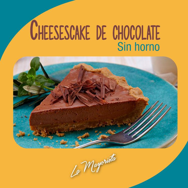 Cheesecake de chocolate (sin horno)